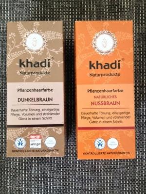 Khadi Dunkelbraun und Khadi natürliches Nussbraun