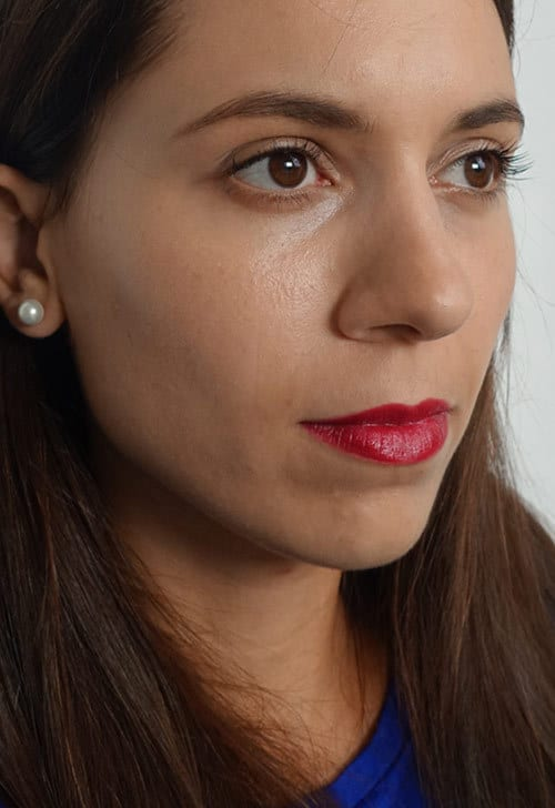Alverde Look Cranberry Lippenstift und Big Drama Lashes Mascara