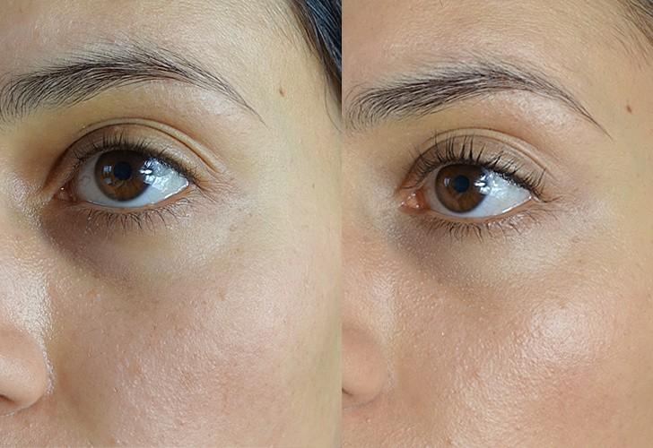 Mineral-Make-up von Angel Minerals Vorher Nachher Tragebild