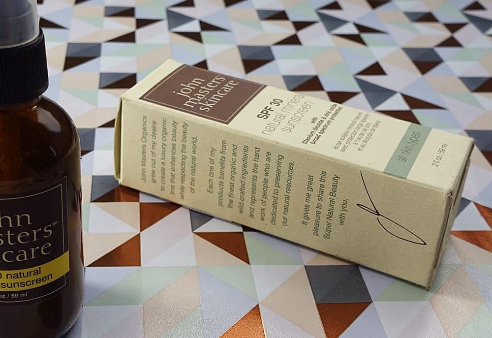 John Masters natural mineral Sunscreen