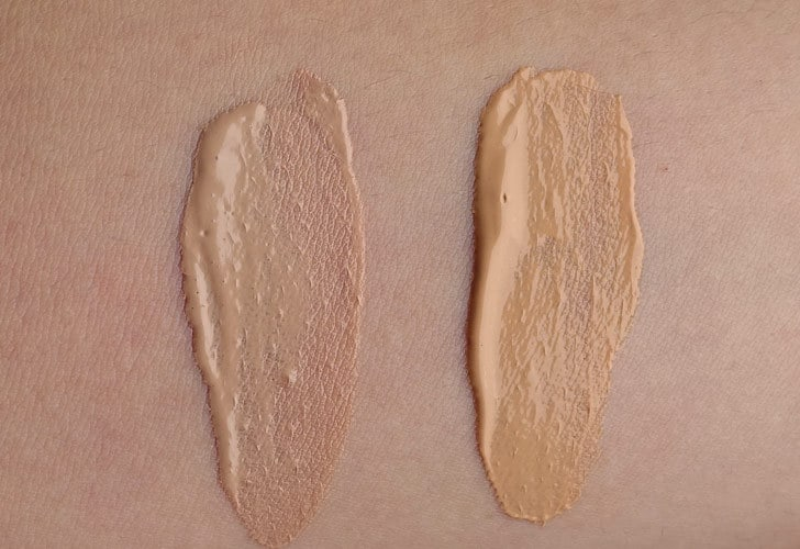 Tinted Moisturizer Swatches: 100% Pure und Physician's Formula