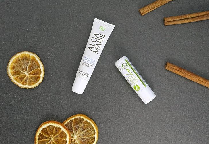 Lippenpflege ohne Duftstoffe von mysalifree und Alga Maris