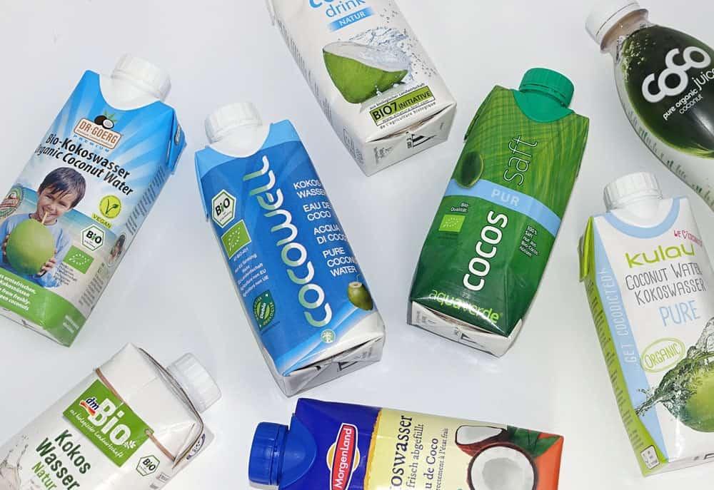 Bio-Kokoswasser-Vergleich