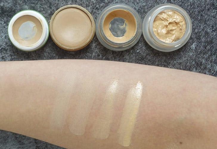 Naturkosmetik-Concealer-Vergleich: Alverde, Couleur Caramel, RMS Beauty, Hynt Beauty