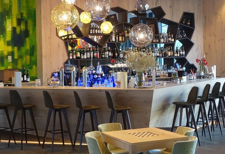 Die Bar im Hotel Rosengarten