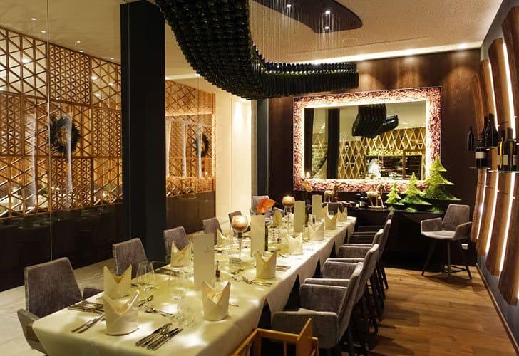 Speisesaal im Hotel Rosengarten