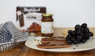Blumenbrot Kakao – glutunfreies Knäckebrot