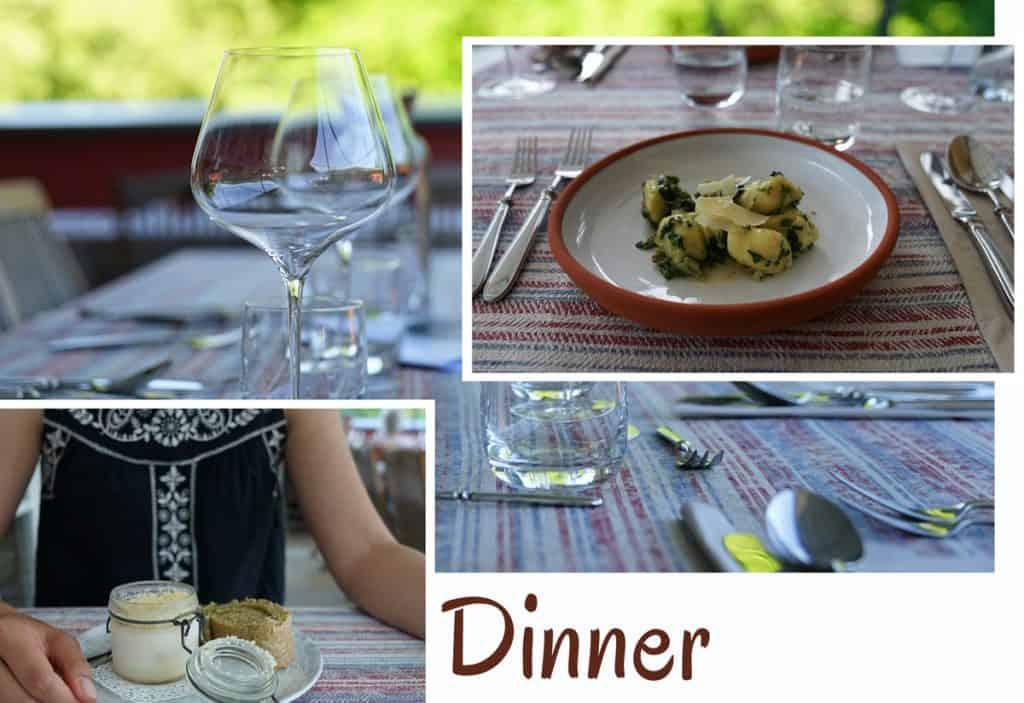 Weingut Tauss Abendessen