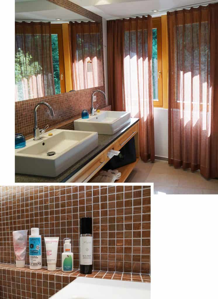 Bio-Hotel daberer Badezimmer