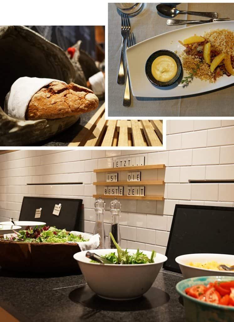 Dinner und Buffet bio-hotel daberer