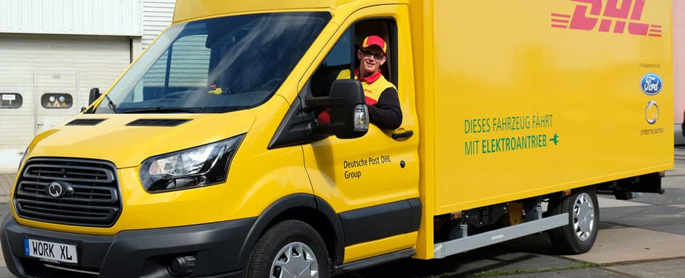 nachhaltige paketzustellung deutsche post liefert bald mit e transporter. Black Bedroom Furniture Sets. Home Design Ideas