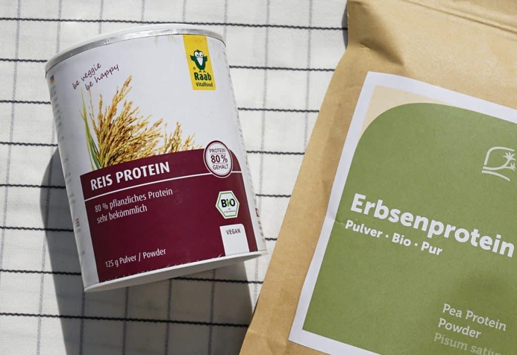 Pflanzliches Protein aus Erbsen und Reis