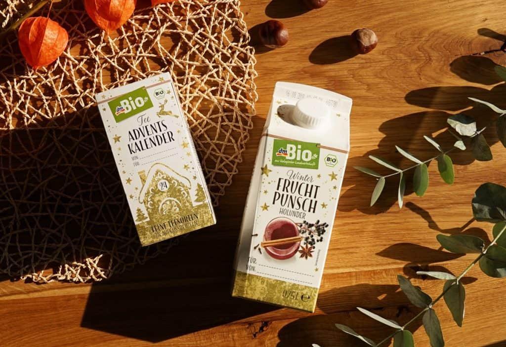 dm Bio Tee-Adventskalender und Fruchtpunsch
