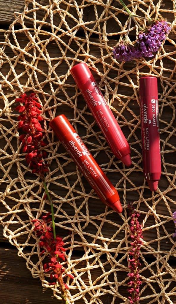 matt Lipsticks von Alverde nicht vegane Farben