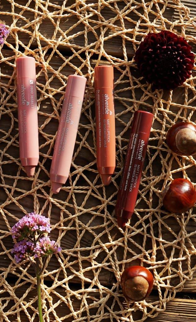Alverde Matt Lipsticks vegane Farben