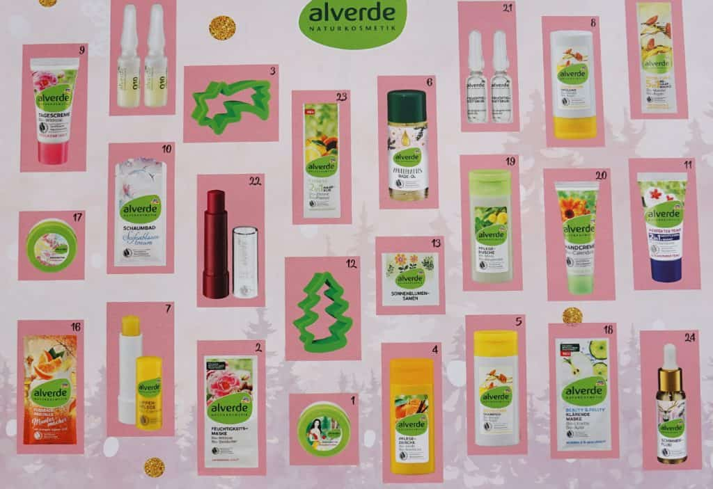 Alverde Adventskalender Inhalt