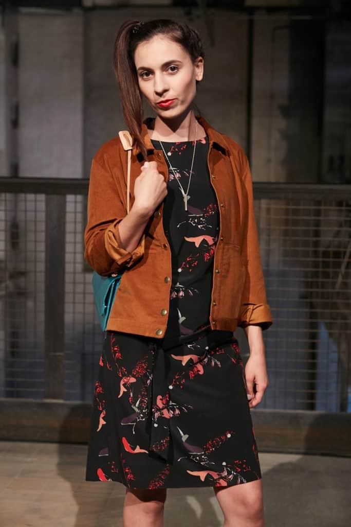 Fair Fashion Outfit Lanius Kleid & Jungle Folk Jacke