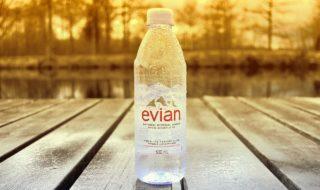 Evian Recycling Plastikflaschen