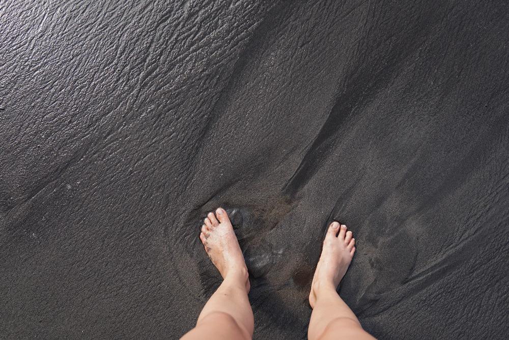 Schwarzer Strand Martinique