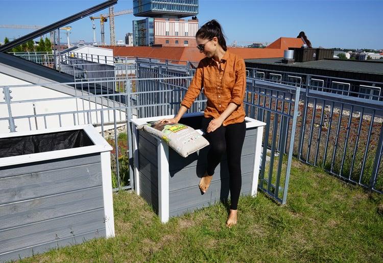 Hochbeet auf der Terrasse