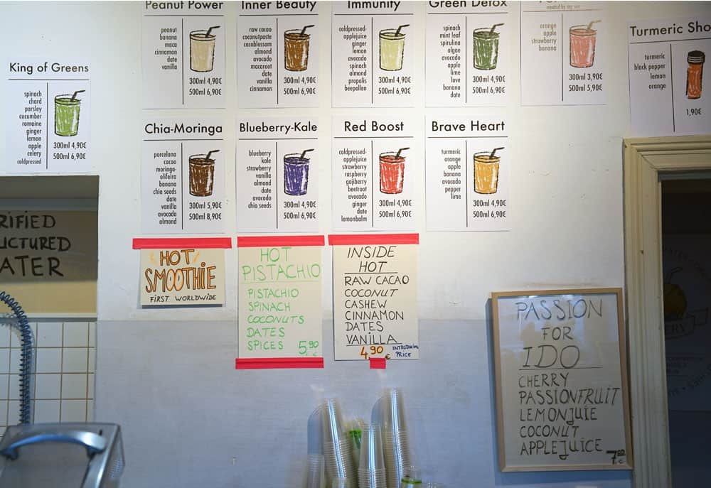 the juicery berlin menu
