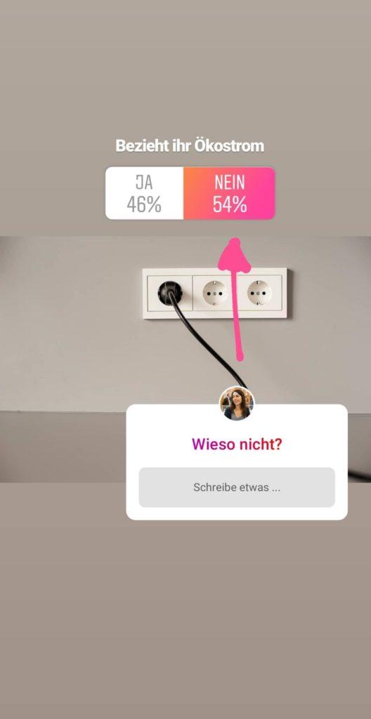 Ökostrom umfrage instagram