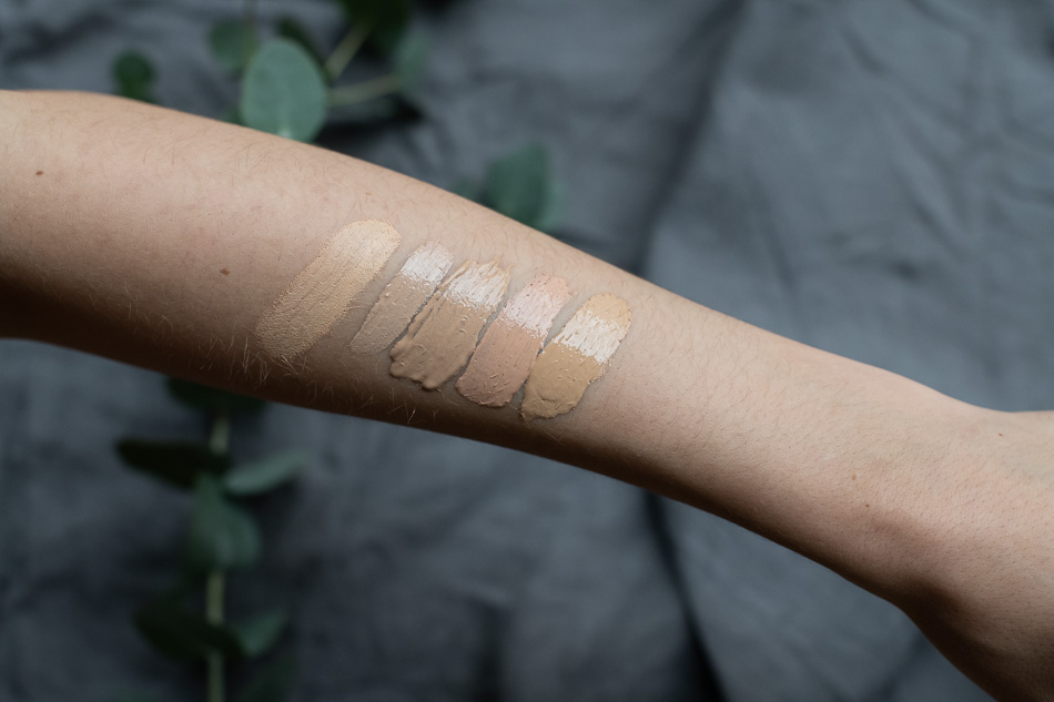swatches madara foundation nui rms beauty hynt beauty concealer madara