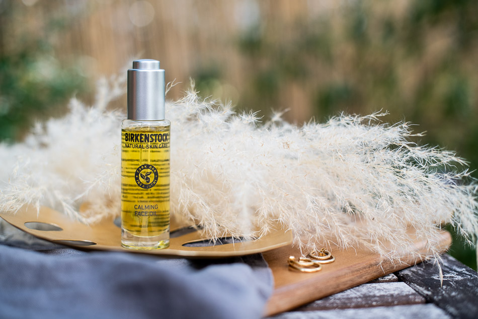 calming face oil birkenstock natural skincare
