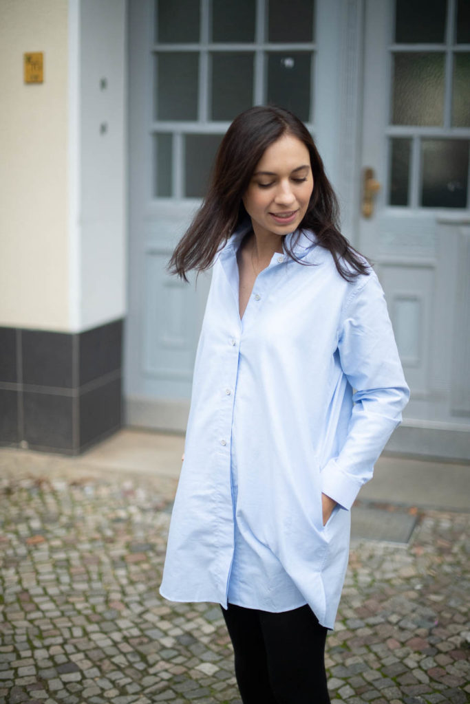 organic basics outfit bluse bio baumwolle